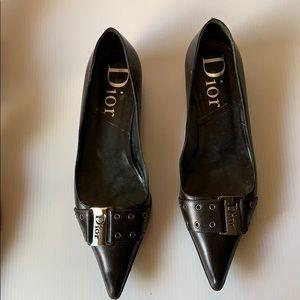 Christian Dior black flats